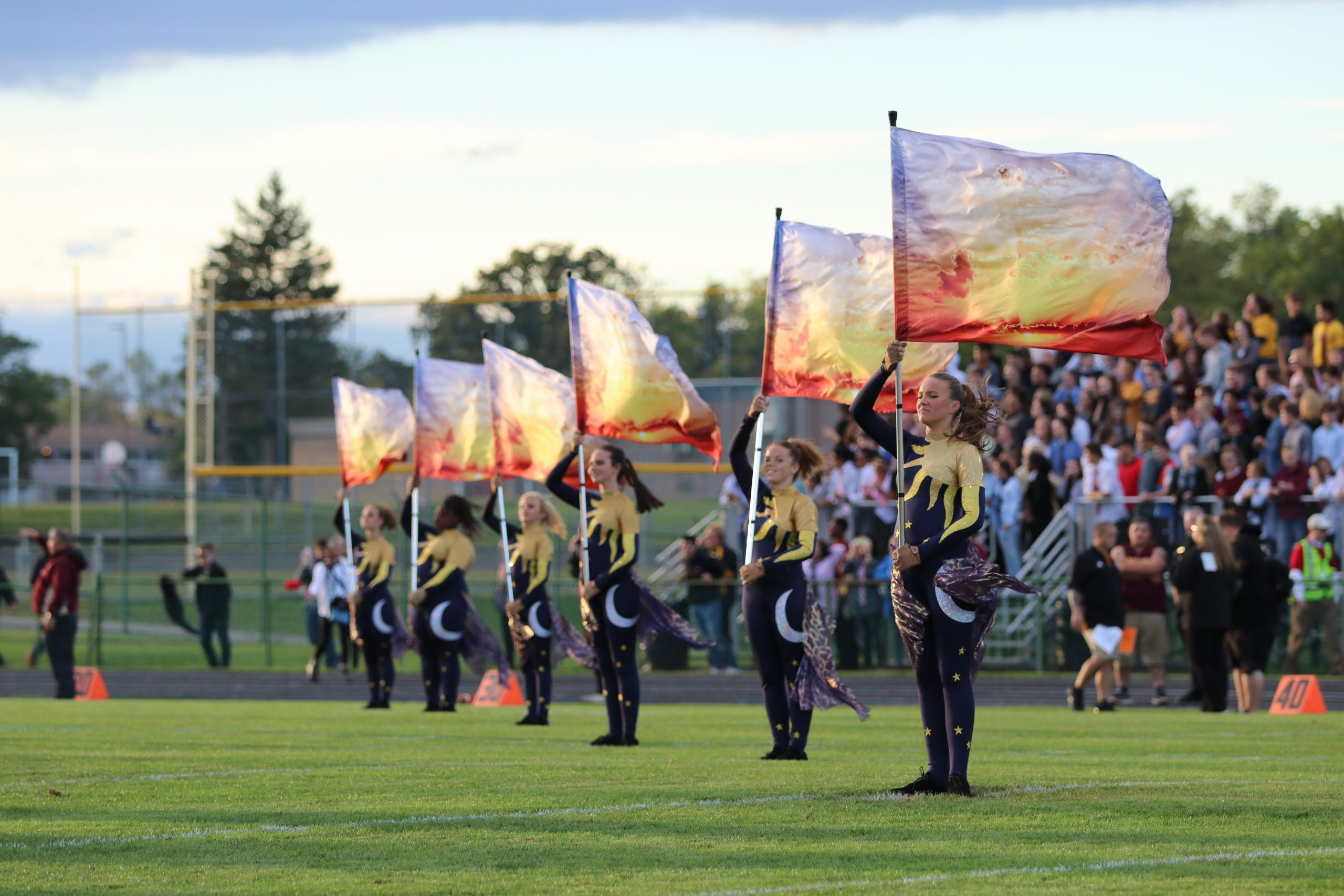 Grand Blanc Bobcat Band Color Guard