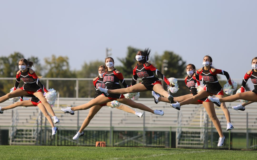 Grand Blanc JV Pom performs pregame 9.25.20
