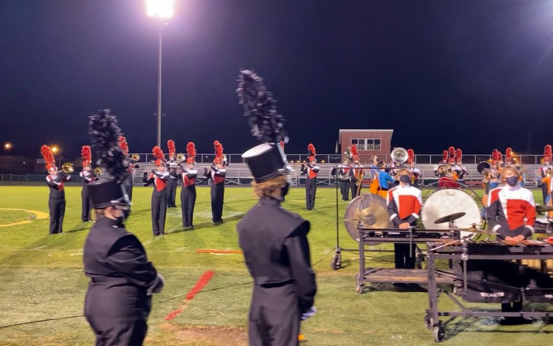 Grand Blanc High School Marching Band Performs on Senior Night 10.27.20